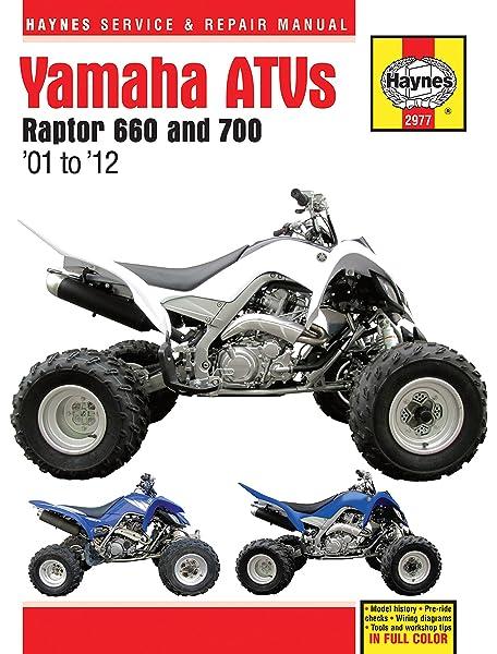 Amazon.com: 2001-2012 Yamaha Raptor 660 700 ATV Quad HAYNES ... on