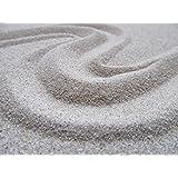 Sabbia per acquario, con grana da 0,1-0,3 mm, da 1kg,5kg,10kg,25kgo30kg, di colore bianco naturale