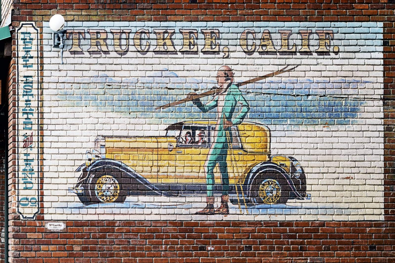 Truckee, CA - Photo - Mural: Real Estate and Land Co. in Truckee, an unincorporated town in Nevada County, California, a few miles north of Lake Tahoe - Carol Highsmith