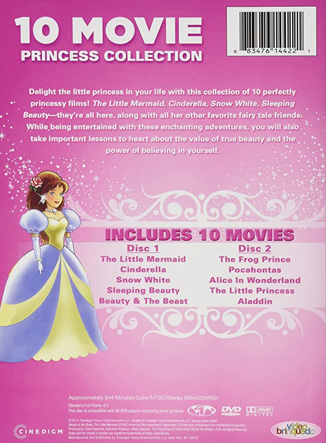 10 Movie Princess Collection Amazon Not Available Dvd