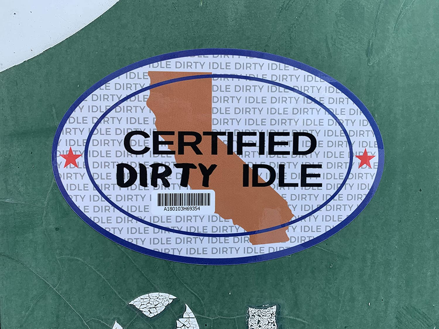 KCP Performance Fleet Certified Dirty Idle Sticker Decal for Diesel Trucks