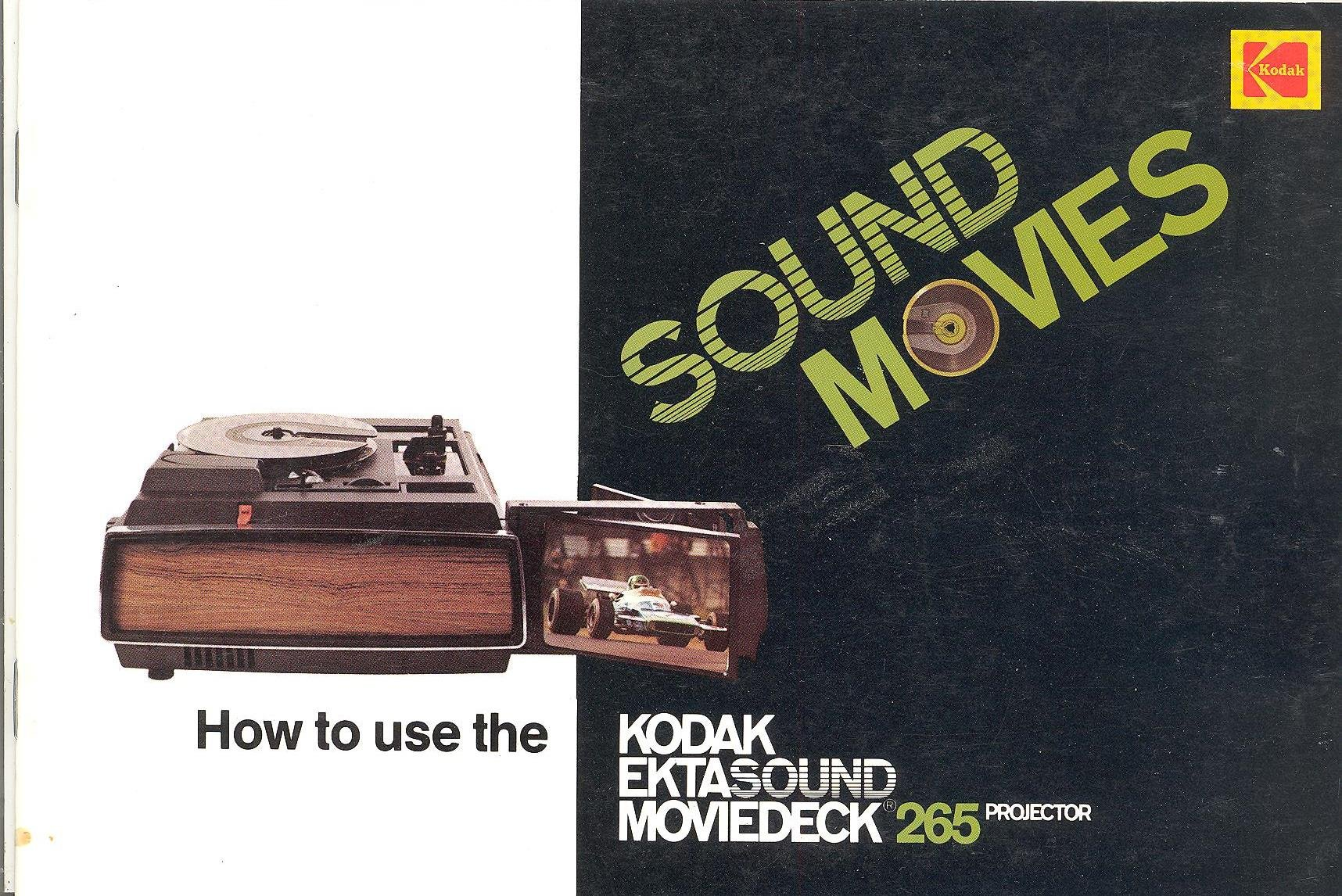 kodak ektasound moviedeck 265 porjector original instruction manual rh amazon com