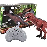 Minihorse-Dino Planet Infrared Remote Control Walking Dinosaur Toy Figure with Shaking Head, Light Up Eyes and Sounds,Gift for Kids 4-10 Year Old Boys Girls
