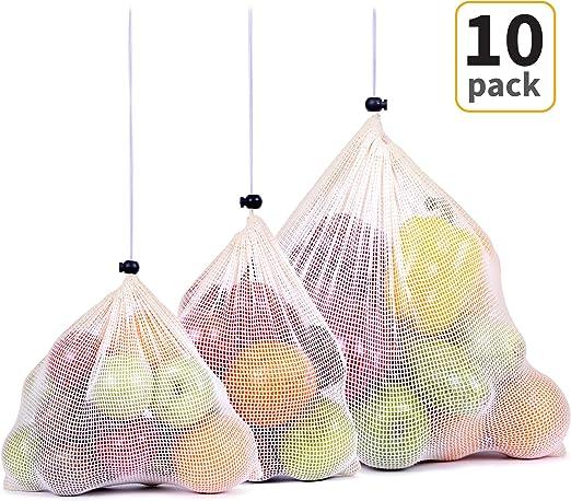 Get Fresh bolsas de malla orgánica reutilizables, bolsas de malla ...