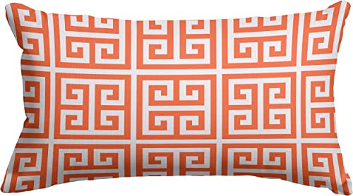 Majestic Home Goods Orange Towers Indoor Outdoor Small Throw Pillow 20 L x 5 W x 12 H