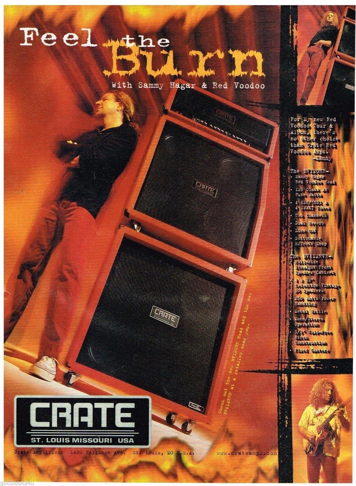 Crate Amps Sammy Hagar Red Voodoo 1999 Print Advertisement Crate 0613161377555 Amazon Com Books