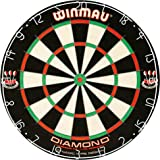 Winmau Diamond Plus Tournament Bristle Dartboard with Staple-Free Bullseye for Higher Scores and Fewer Bounce-Outs
