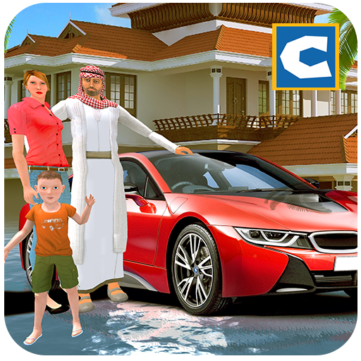 Virtual Sheikh Happy Family Billionaire Life Style Fun Helicopter