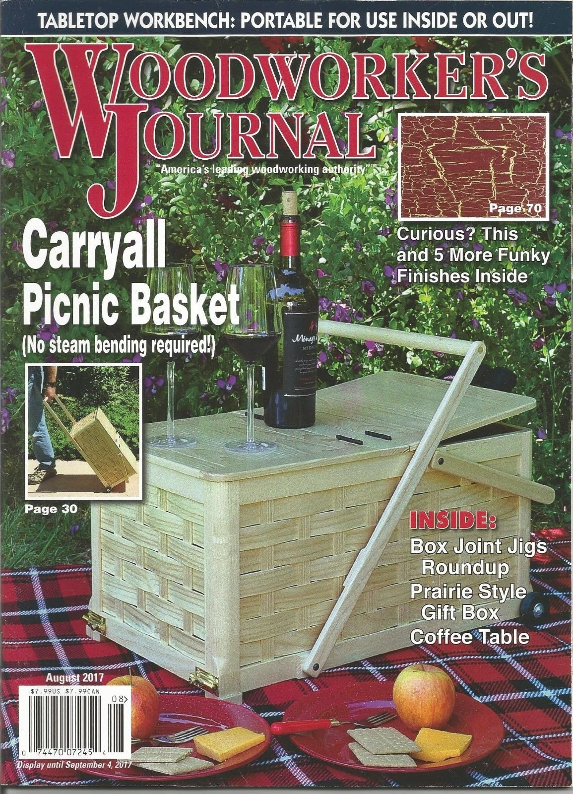 WOOD WORKER'S JOURNAL, AMERICA'S LEADING WOODWORKING AUTHORITY, AUGUST 2017