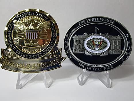 Amazon com: Set of Two Challenge Coins POTUS President
