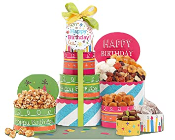 Amazon com : Make a Wish Happy Birthday Gift Basket  Gourmet Gift