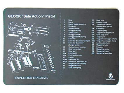 amazon com usefulthingy glock cleaning mat printed diagram rh amazon com glock 23 gen 4 parts diagram glock 23 gen 4 diagram