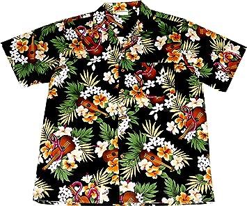 """Camisa Hawaiana Hombre """"Hawaiian Ukulele"""", 100% algodón, tamaño 3XL: Amazon.es: Juguetes y juegos"""