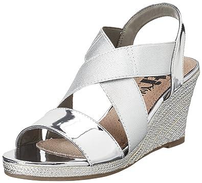 Silver Mirror Pu Ladies Sandals, Womens Heels Sandals Xti