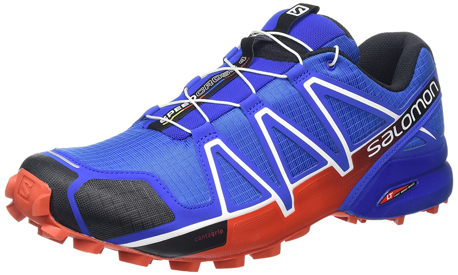 SALOMON Men s Speedcross 4 Trail Running Shoe,Blue Yonder Black Lava Orange,US 1