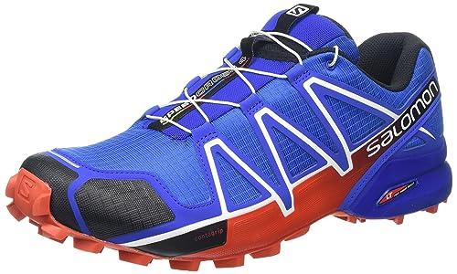 Salomon L38313000, Scarpe da Trail Running Uomo, Blu (Blue Yonder/Black/Lava Orange), 41 1/3 EU