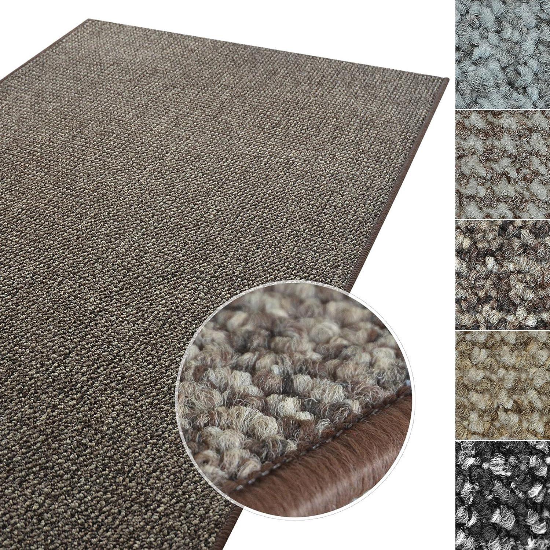 casa pura Kurzflor Teppich Carlton | Flachgewebe dezent Gemustert | robuster Schlingenteppich in vielen Größen | als Wohnzimmerteppich, Küchenteppich, Schlafzimmerteppich (Braun - 300x400 cm)