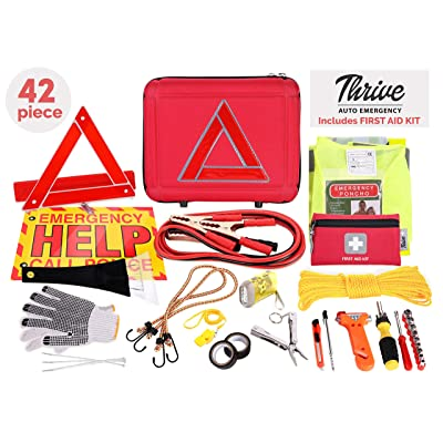 Thrive Roadside Assistance Auto Emergency Kit - Ideal Winter Accessory for Your car, Truck, Camper: Automotive