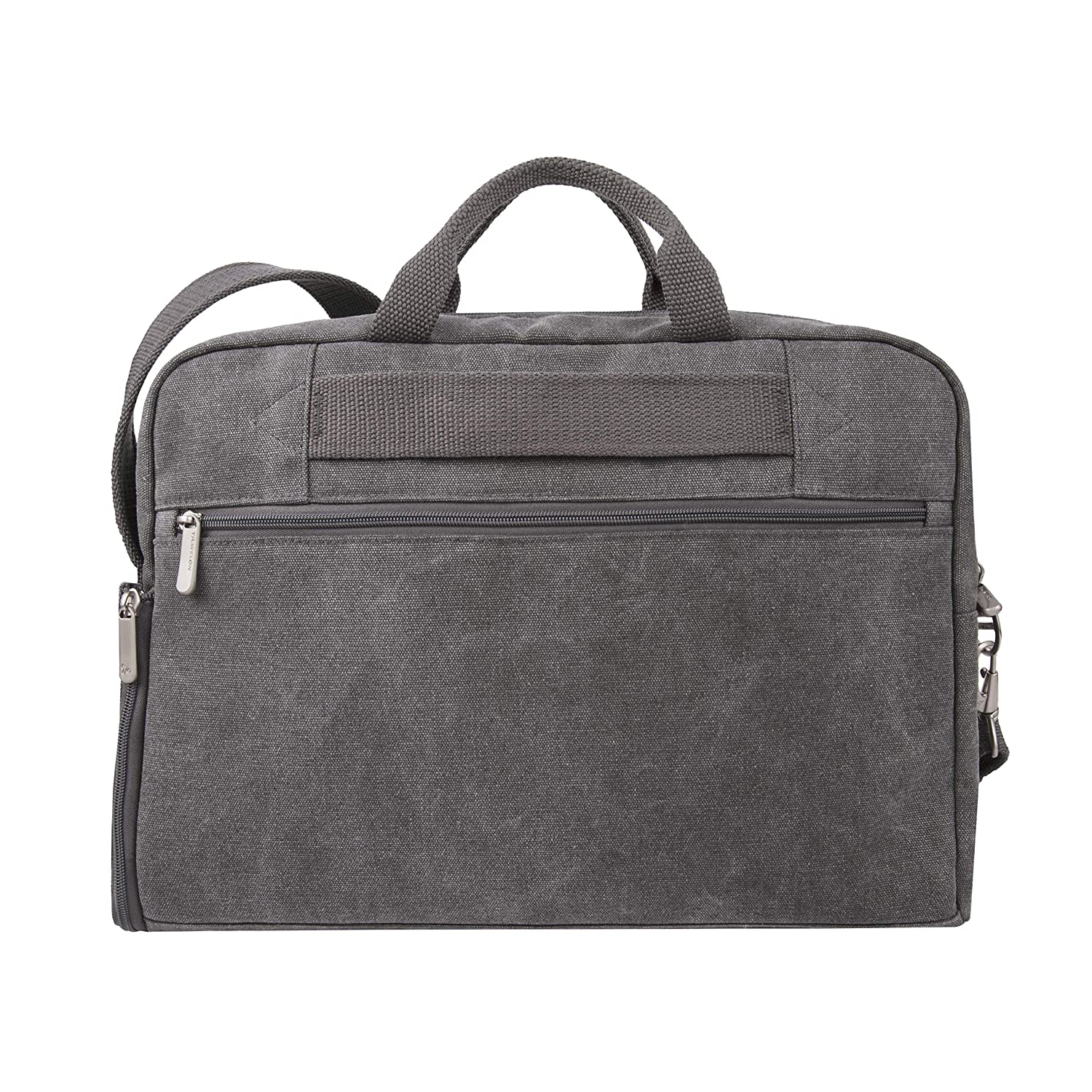 8692a9cfb Amazon.com | Travelon Anti-Theft Heritage Messenger Briefcase, Pewter | Messenger  Bags