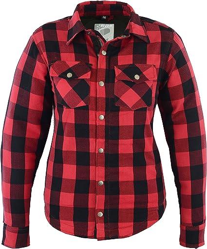 Mujer Kevlar Camisa, Lumberjack Rojo: Amazon.es: Coche y moto