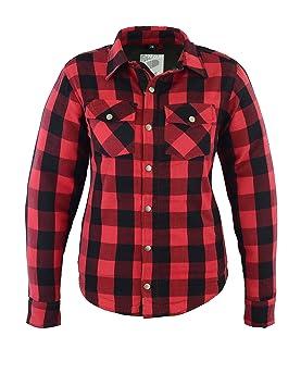 varios tipos de venta directa de fábrica diseño superior Mujer Kevlar Camisa, Lumberjack Rojo: Amazon.es: Coche y moto
