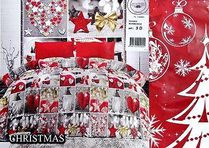 Cerco Piumone Matrimoniale.Trapunta Piumone Matrimoniale Charro Natale Natalizia Christmas Stampa 3d Rosso