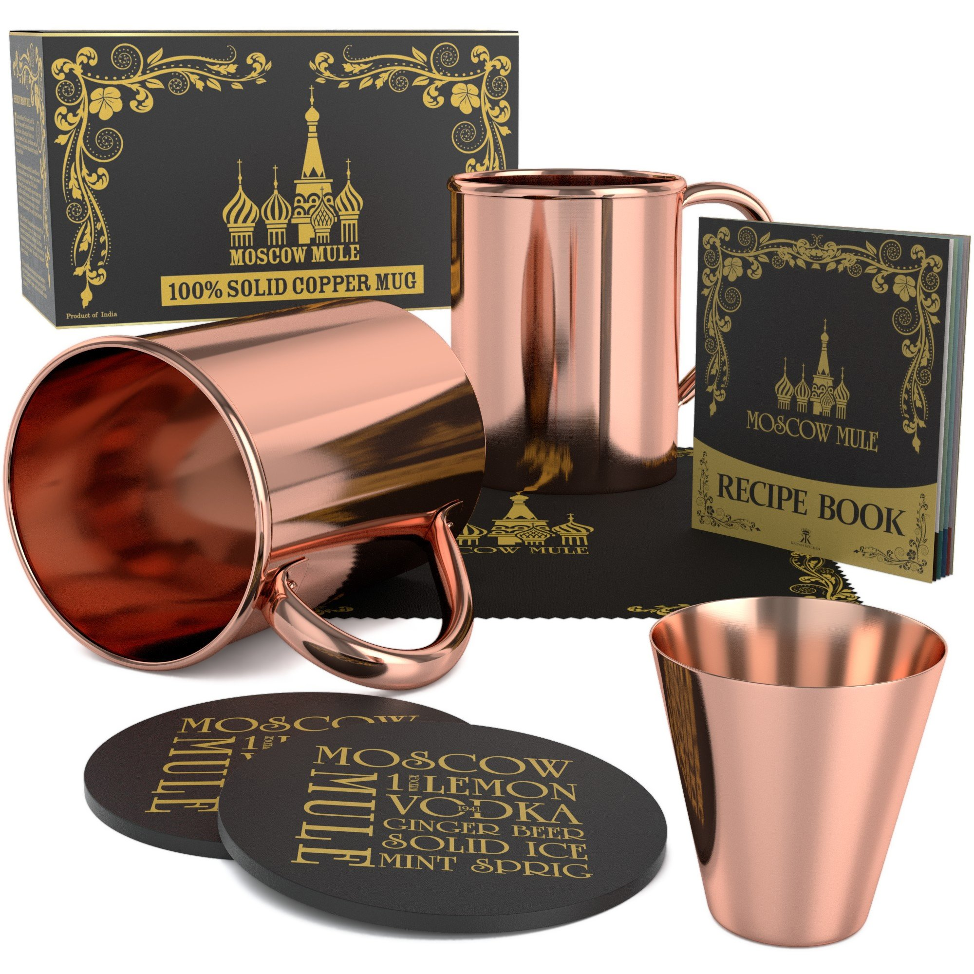 Krown Kitchen - 100% solid moscow mule copper mug (2) by Krown Kitchen (Image #2)
