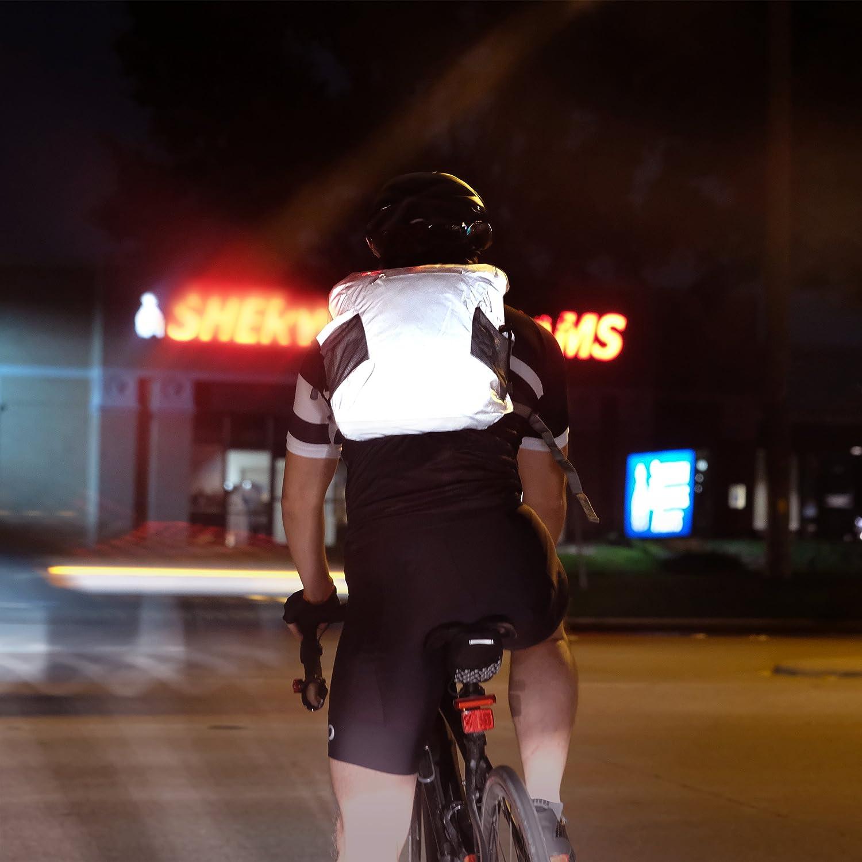 Sac à dos de vélo le cyclisme Luxelu REF-1-SILV-FOLD Pliable Réfléchissant Léger Pour lécole la marche Imperméable la course Haute visibilité