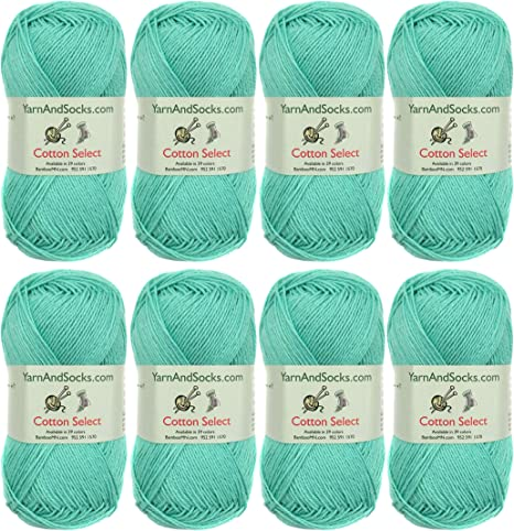 50g//Skein 100/% Cotton Select Yarn Caribbean Green