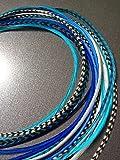 LA BEAUTE POUR TOUS 10 Extensions plumes Candy XXL 20-30 cm 100% naturel pour cheveux+ anneaux offerts
