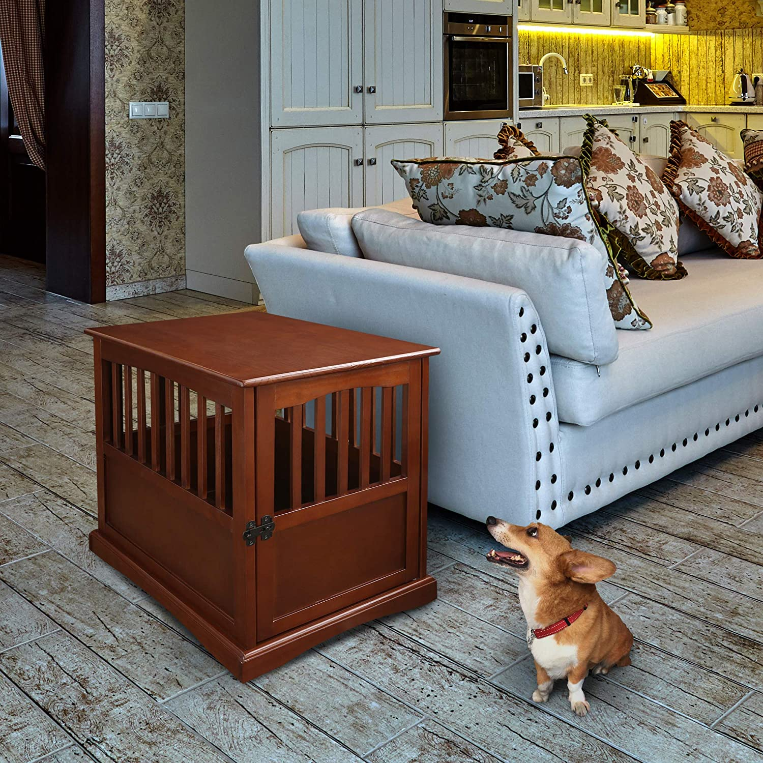 Casual Home Wooden Pet Crate