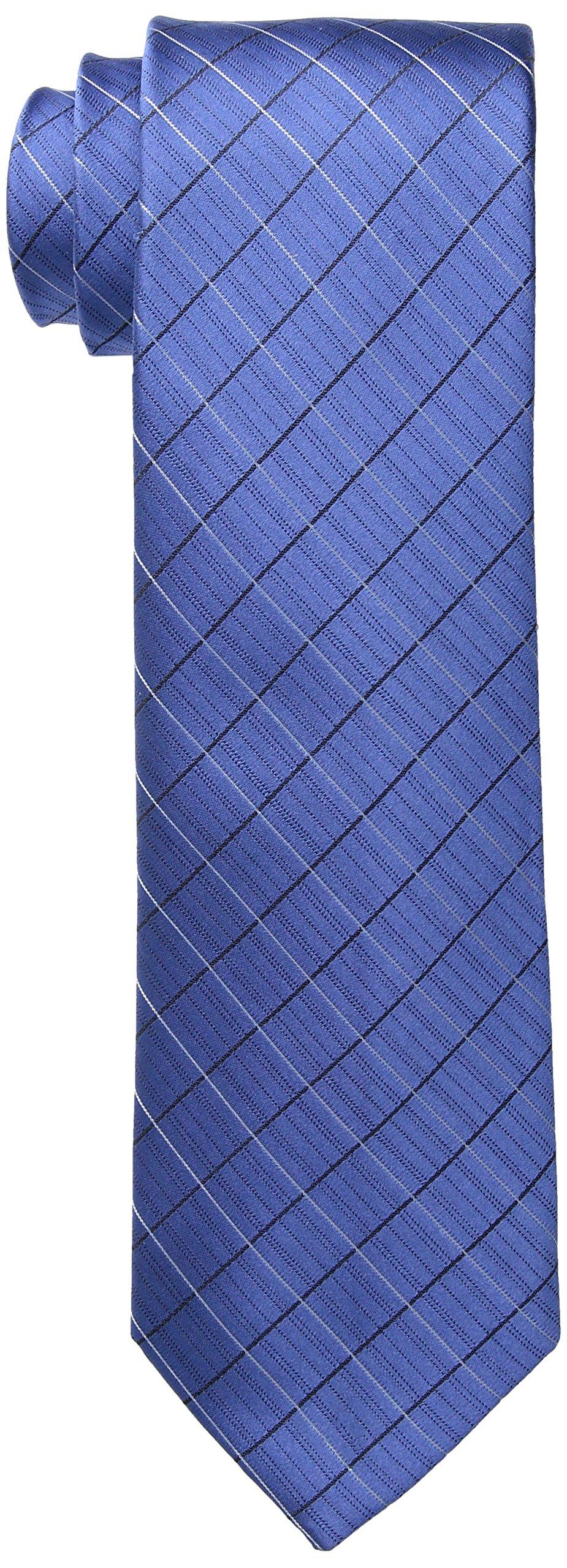 Calvin Klein Men's Etched Windowpane B Tie, Slate, Regular