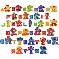 JOYIN Alphabet Robot Action Figure Toys for Kids ABC Learning, Birthday Party, School Classroom Rewards, Carnival Prizes, Pre-School Education Toy, Easter Basket Stuffers, Christmas Stocking Stuffers
