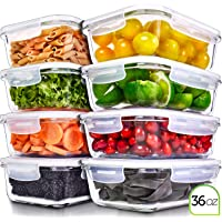 Amazon Price History:Prep Naturals Glass Meal Prep Containers - Food Prep Containers with Lids Meal Prep - Food Storage Containers Airtight…