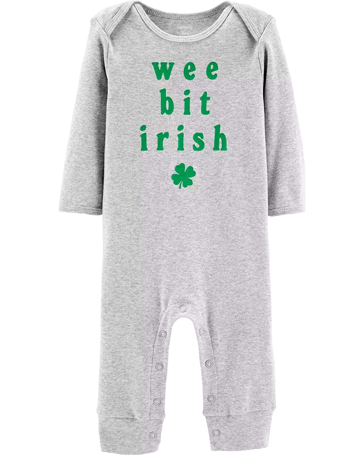 e1ea24c98 Amazon.com  Carter s Unisex Baby St. Patrick s Day Jumpsuit  Clothing