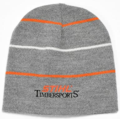Stihl Timbersports Knit Beanie Stocking Cap Gray at Amazon Men s ... 8d96a2023cb