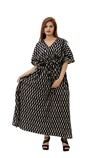 7e12017432 Handicraft-Palace Women s Cotton Gown Nightwear Nighty Kaftan Longer Top  (KL-128