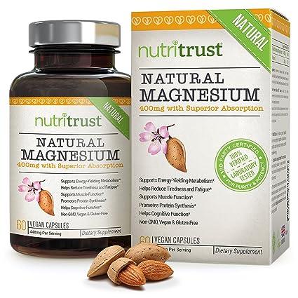 Magnesio Natural NutriTrust – Magnesio fácil de ingerir, de alta potencia, bioactivo, aprobado
