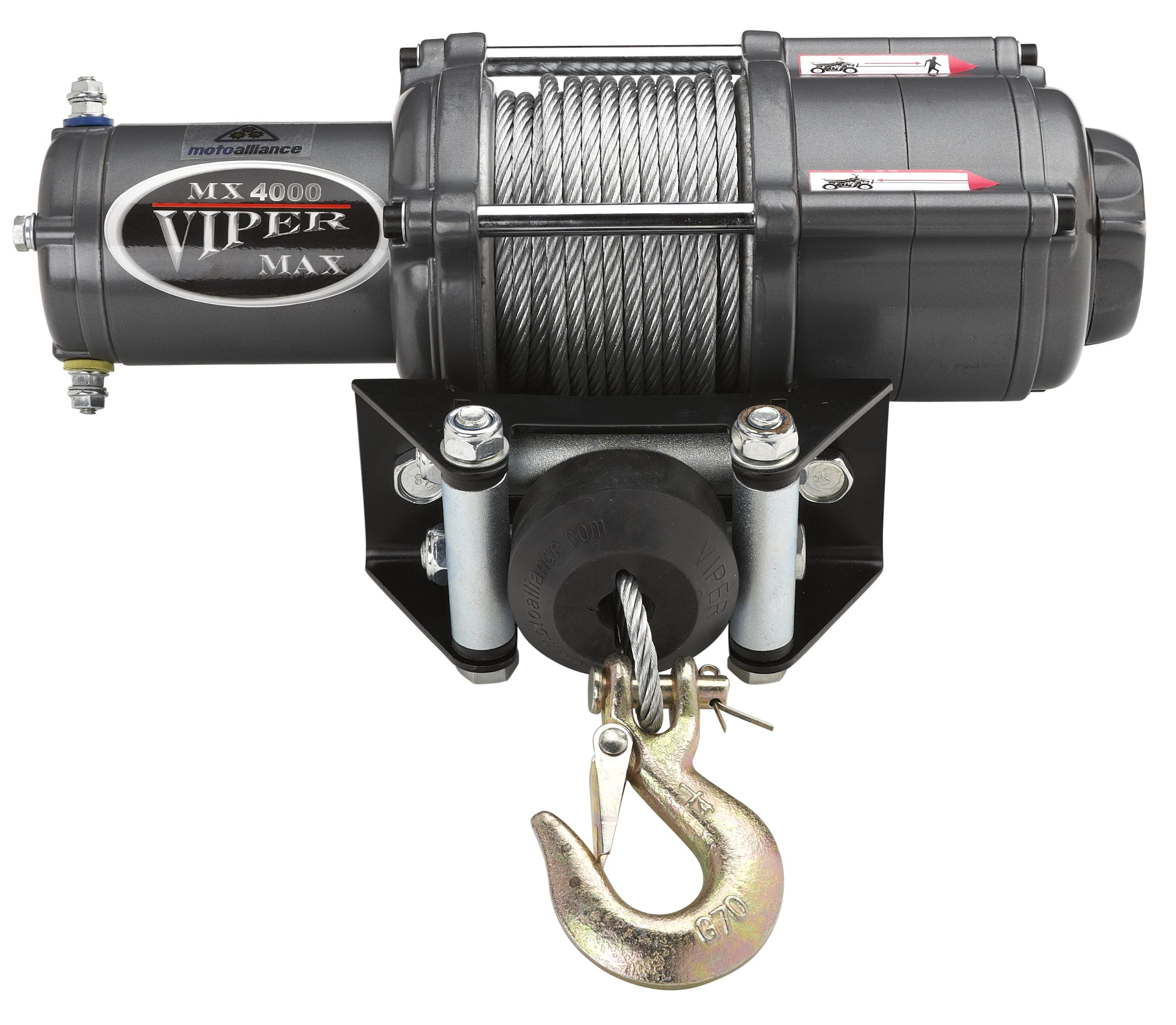 VIPER Max 4000lb ATV/UTV Winch Kit with 50 feet Steel Cable