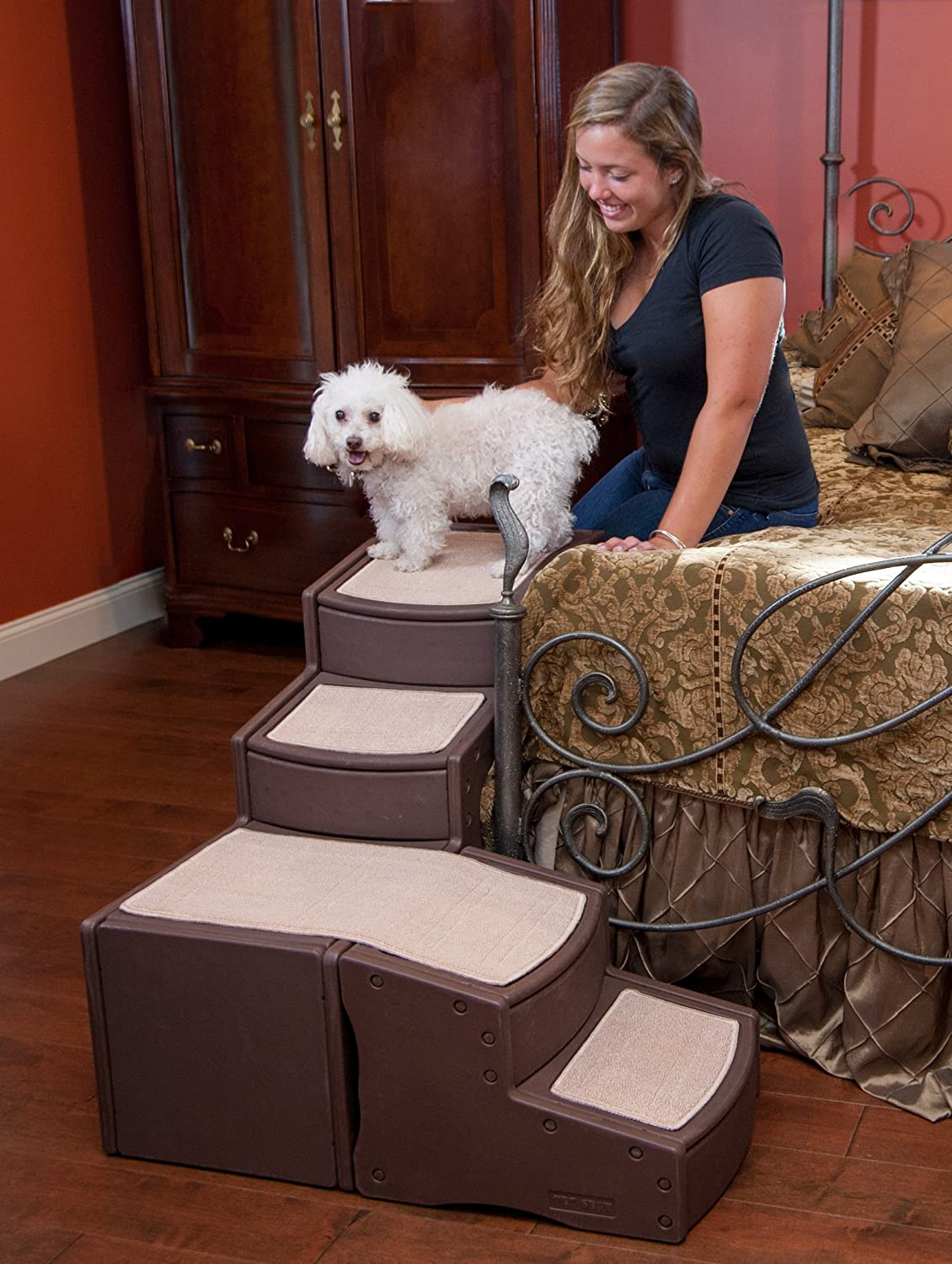 Amazon.com  Pet Gear Easy Step Wrap Around 4-Step Bed Stair for Pets Up to 75-Pound Chocolate  Pet Supplies  sc 1 st  Amazon.com & Amazon.com : Pet Gear Easy Step Wrap Around 4-Step Bed Stair for ... islam-shia.org
