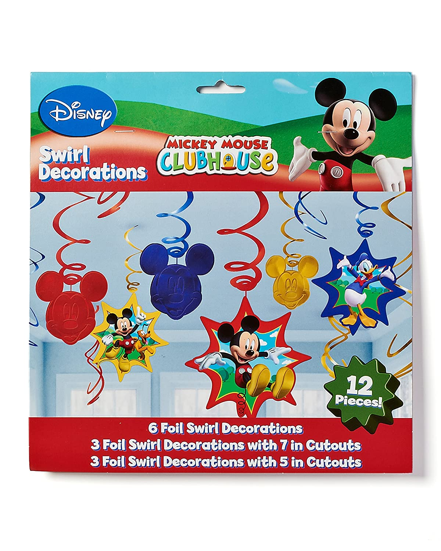 Amazon.com: Disney Mickey Mouse Birthday Party Hanging Swirl ...