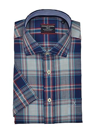 0ddbad051a CASA Moda - Comfort Fit - Herren Freizeit 1/2-Arm-Hemd mit Button Down  Kragen Kariert (982962300): Amazon.de: Bekleidung