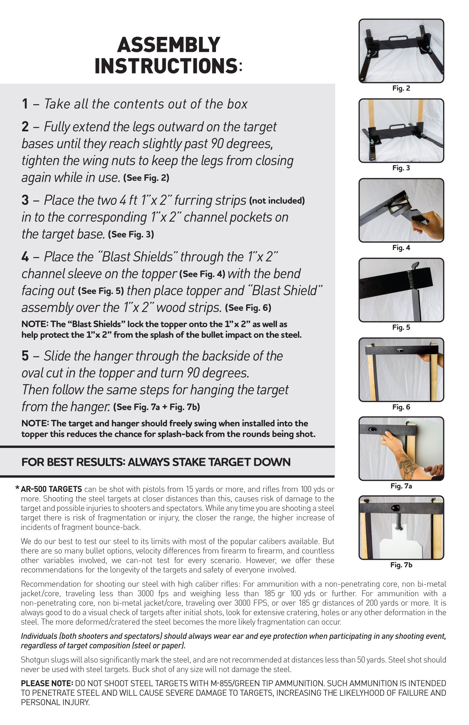 MPATS Portable and Compact AR500 Steel Target System
