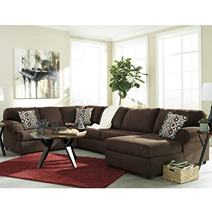 Beautiful Flash Furniture Signature Design By Ashley Jayceon 3 Piece LAF Sofa  Sectional In Java Fabric