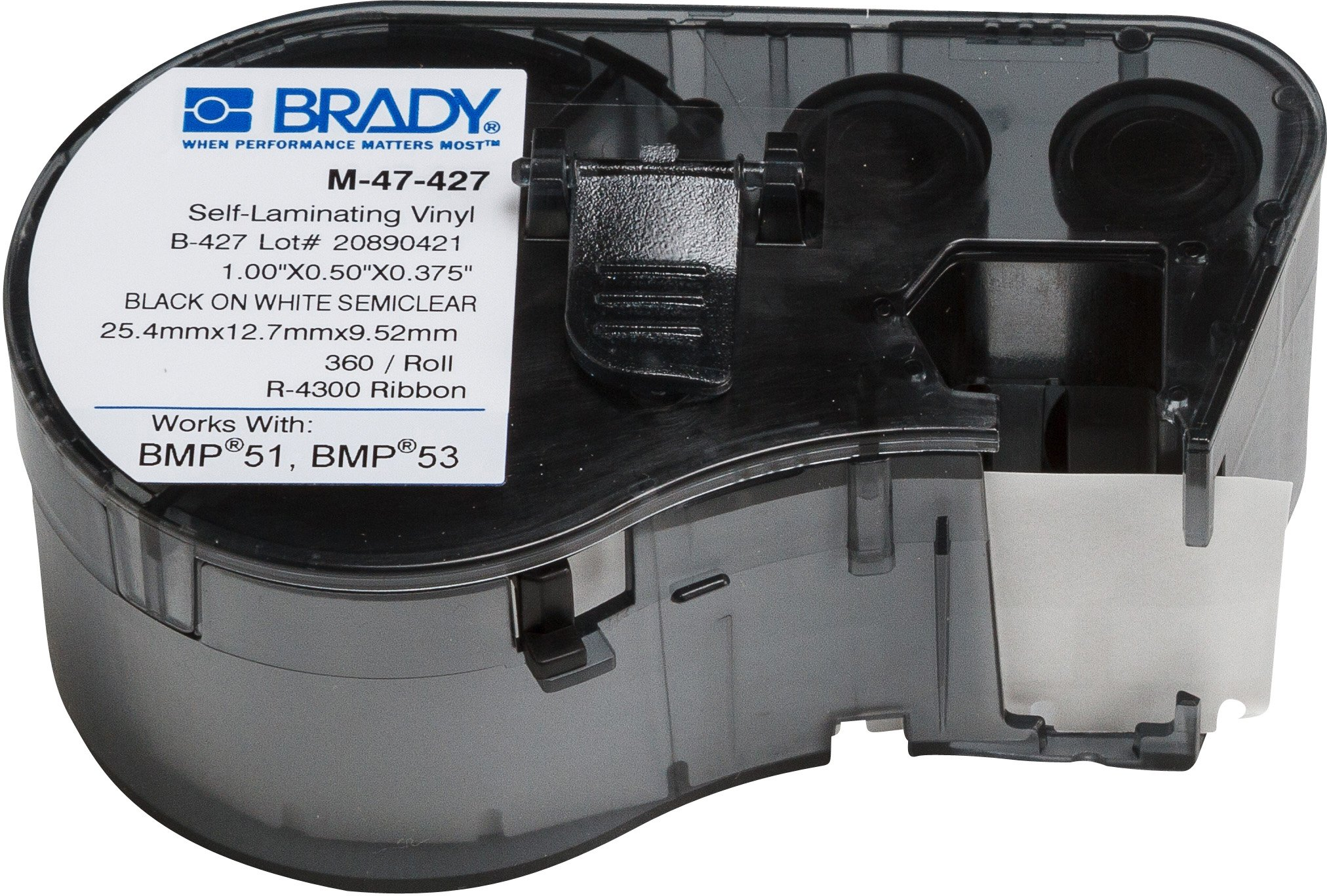 Brady M-47-427 Labels for BMP53/BMP51 Printers