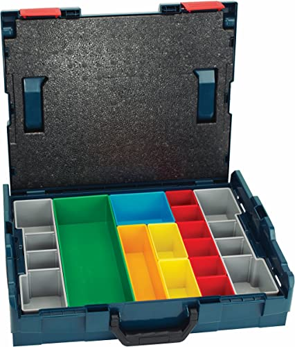 Bosch – L-BOXX-1A 17.5 In. x 14 In. x 4.5 In. Stackable Carrying Case with 13 pc. Insert Set