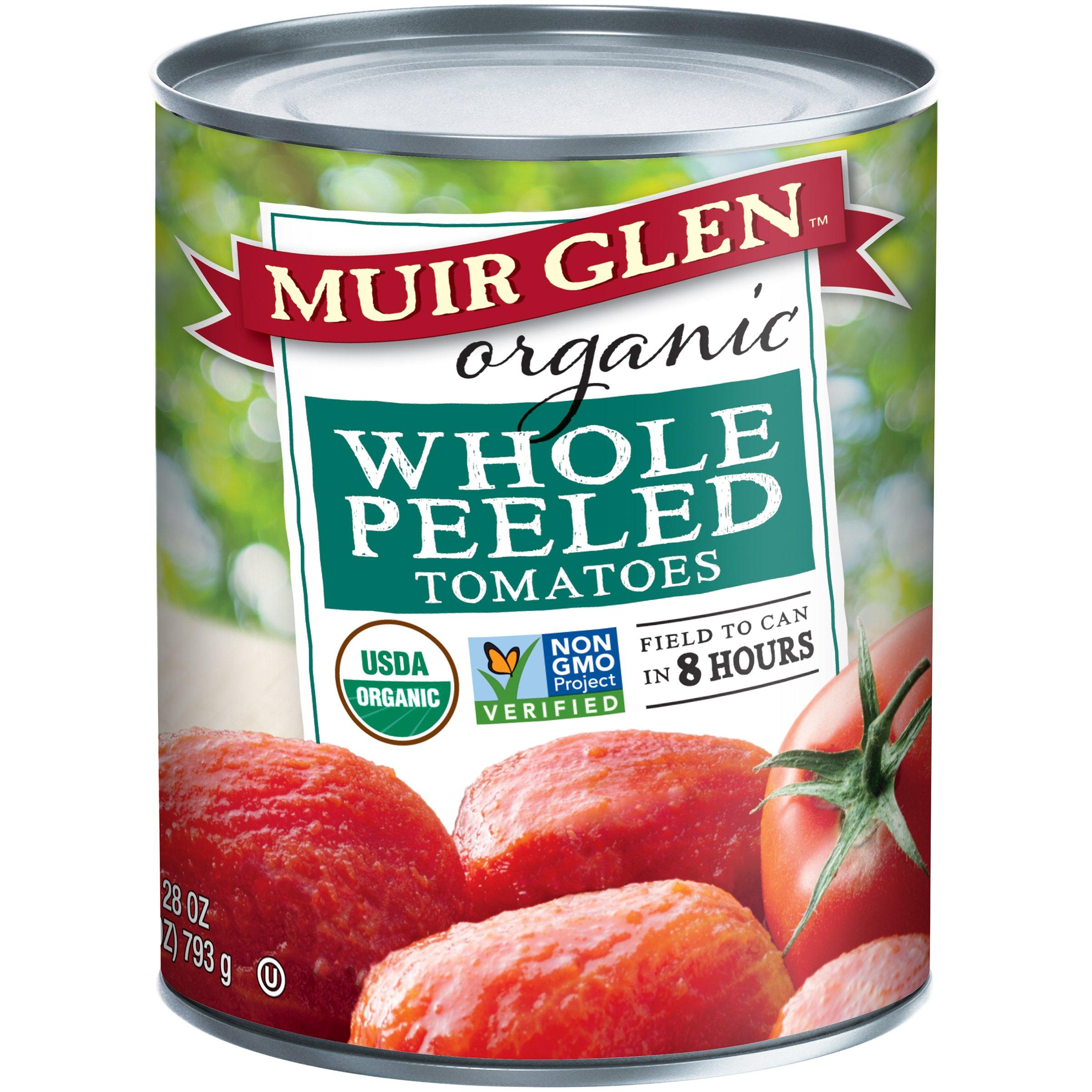 Amazon.com : Muir Glen Canned Tomatoes, Organic Whole Tomatoes, Fire ...