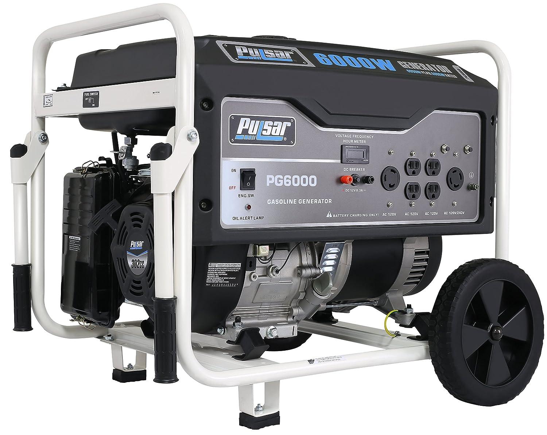 Amazon.com : Pulsar 6, 000W Portable Gas-Powered Generator with Wheel Kit,  PG6000 : Portable Power Generators : Garden & Outdoor