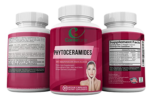 Amazon.com: Phytoceramides with Vitamins A, C, D & E - All Natural Anti-Aging Formula - To Strengthen Hair, Skin and Nails - 30 Veggie Capsules: Health ...