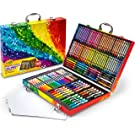 Crayola 140 Count Art Set, Rainbow Inspiration Art Case, Portable Art & Coloring Supplies, Gifts for Kids, Age 4, 5, 6